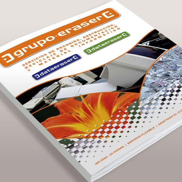 Diseño gráfico de Catalogo empresa Data Eraser Madrid