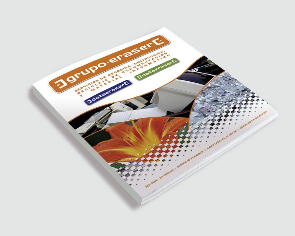 Diseño de Catálogo empresa Data Eraser de Madrid