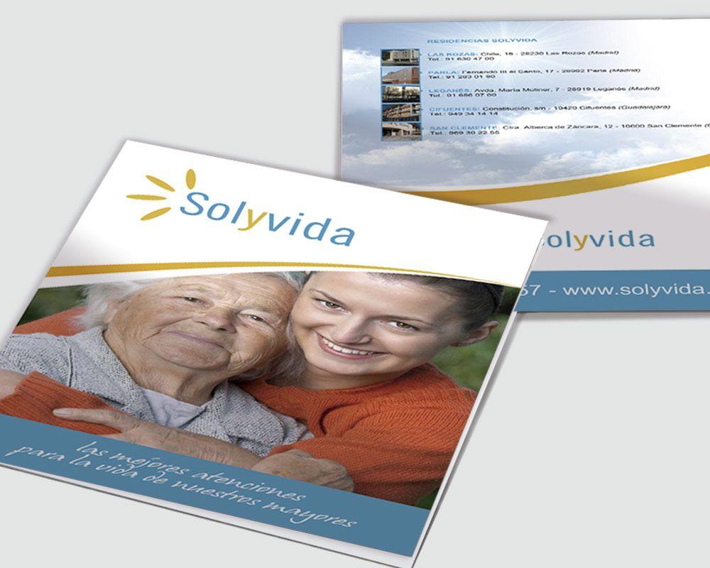 Diseño grafico del Catálogo de Sol y Vida Madrid