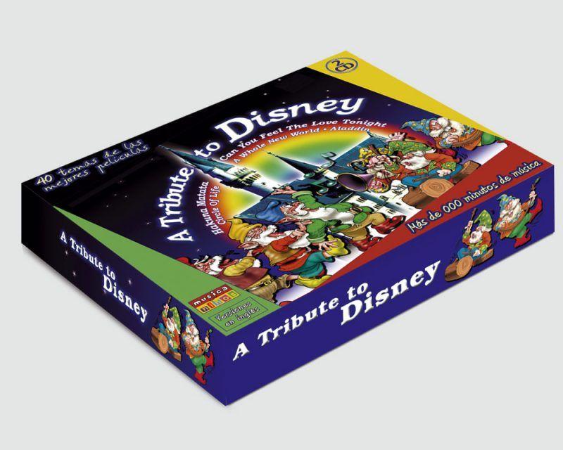 Diseño grafico de portada para CD de música Disney
