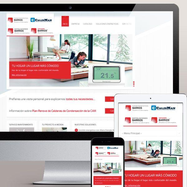 Diseño pagina web de Saneamientos Barrios en Madrid