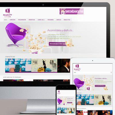 Diseño de la pagina web del canal 8 Madrid Television
