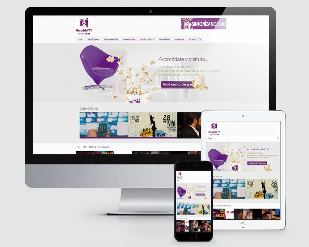 Diseño pagina web de 8 Madrid TV