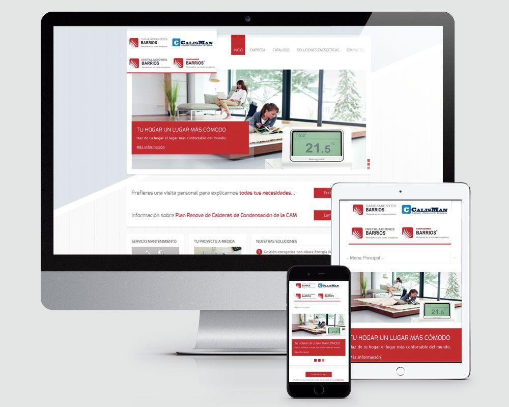 Diseño pagina web Saneamientos Barrios Torrelodones