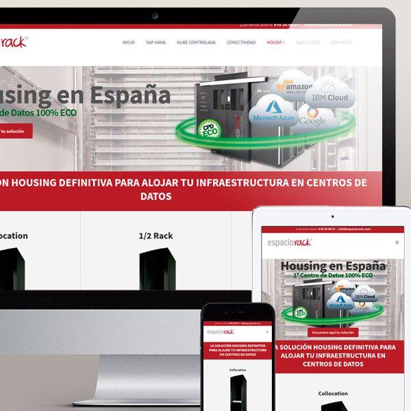Diseño Pagina Web empresa Espacio