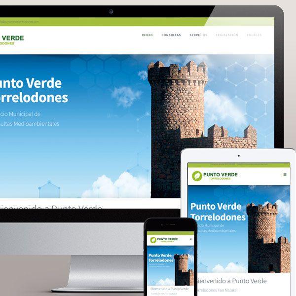 Diseño de la pagina web Punto Verde Torrelodones